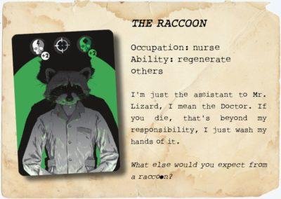 Character Raccoon